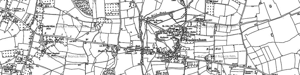 Old map of Feckenham in 1903