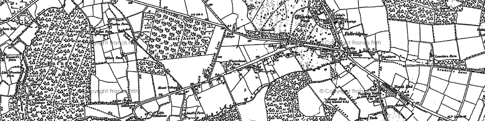 Old map of Felbridge in 1910