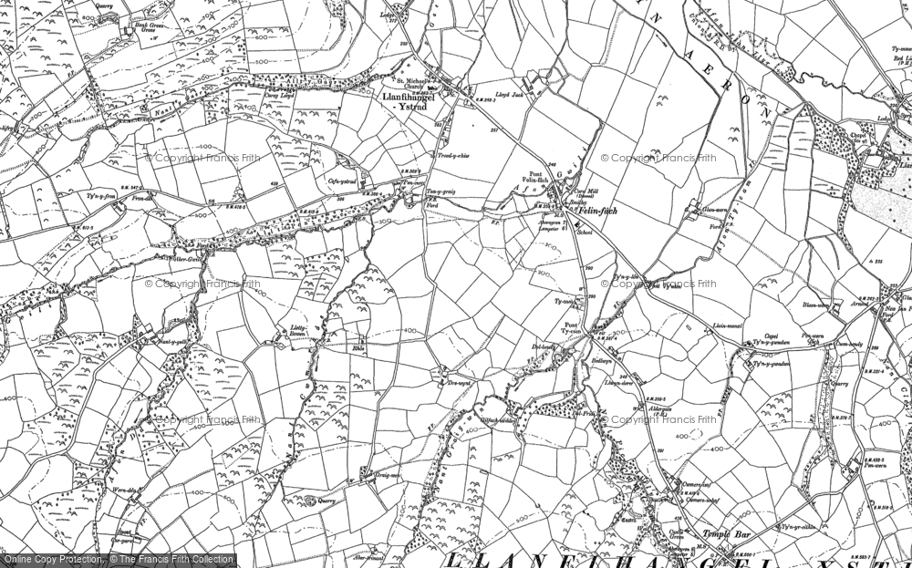 Old Map of Historic Map covering Bank Green Grove in 1887
