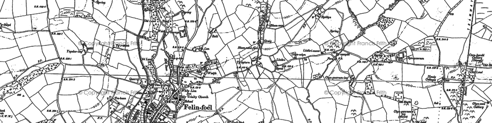 Old map of Ystradfai in 1878