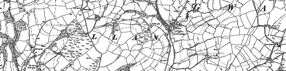 Old map of Ynyswen in 1886