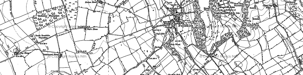 Old map of Abbot's Close in 1892
