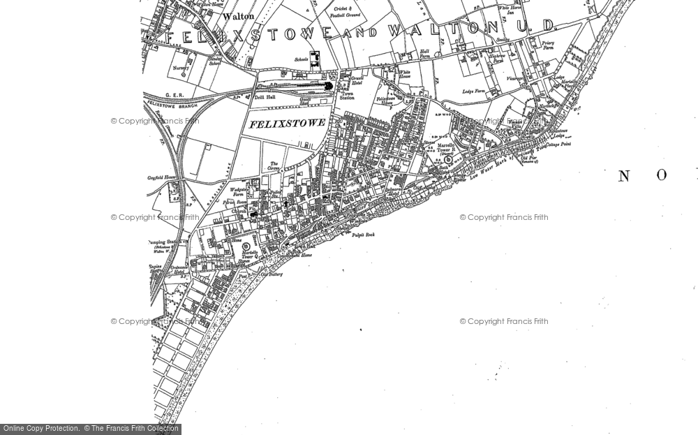 Old Map of Historic Map covering Walton in 1881