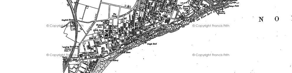 Old map of Walton in 1881