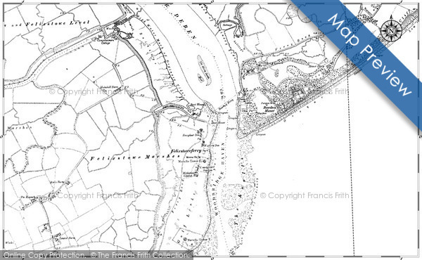 Historic map of Bawdsey Manor
