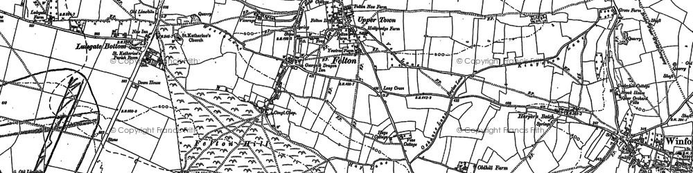 Old map of Winford Manor in 1883