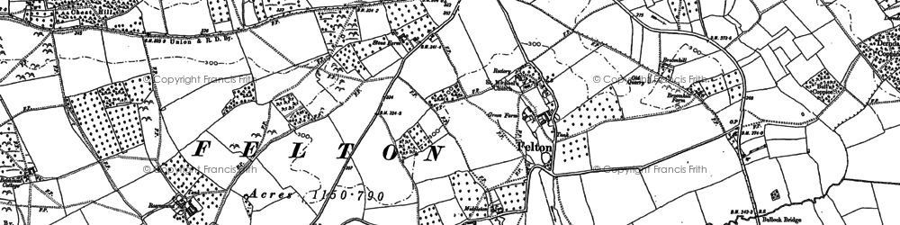 Old map of Whitechurch Maund in 1885