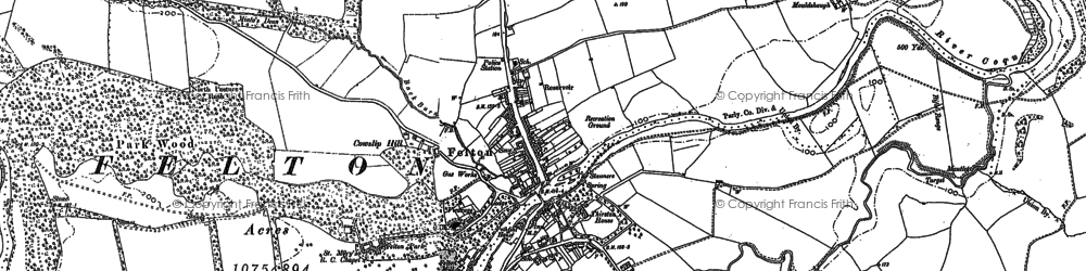Old map of Acton in 1896