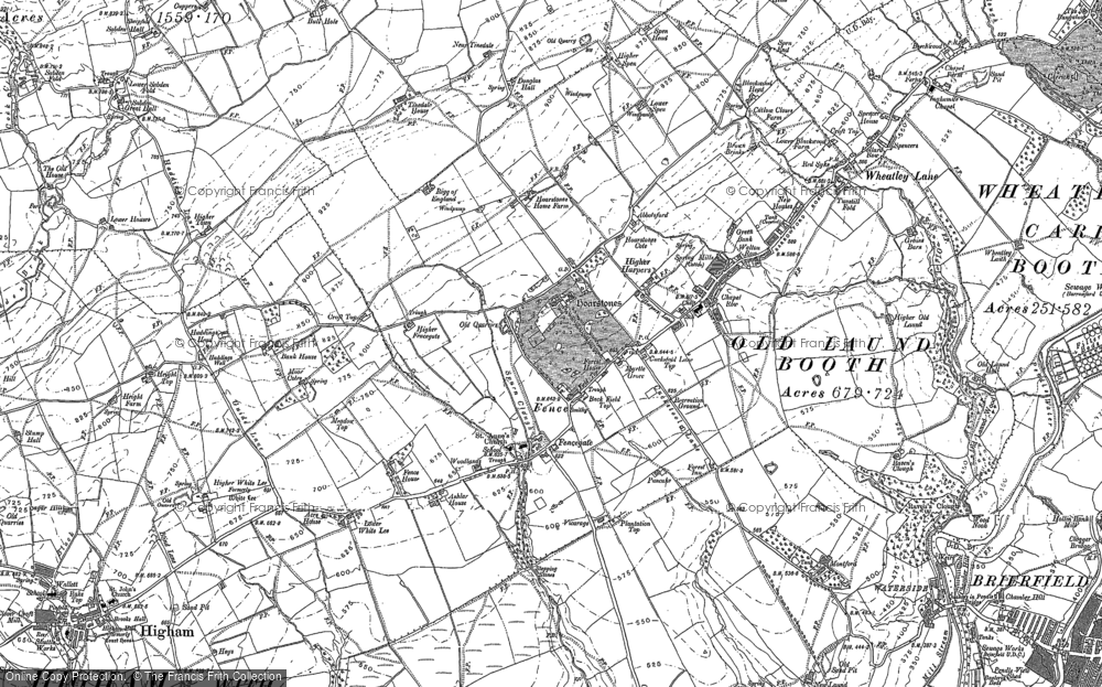 Old Map of Historic Map covering Green Head in 1891
