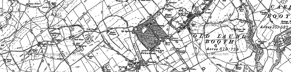 Old map of Wheatley Lane in 1891