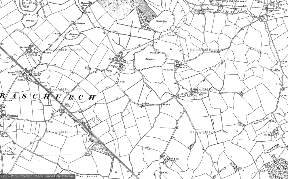 Old Map of Fenemere, 1880 - 1881 in 1880