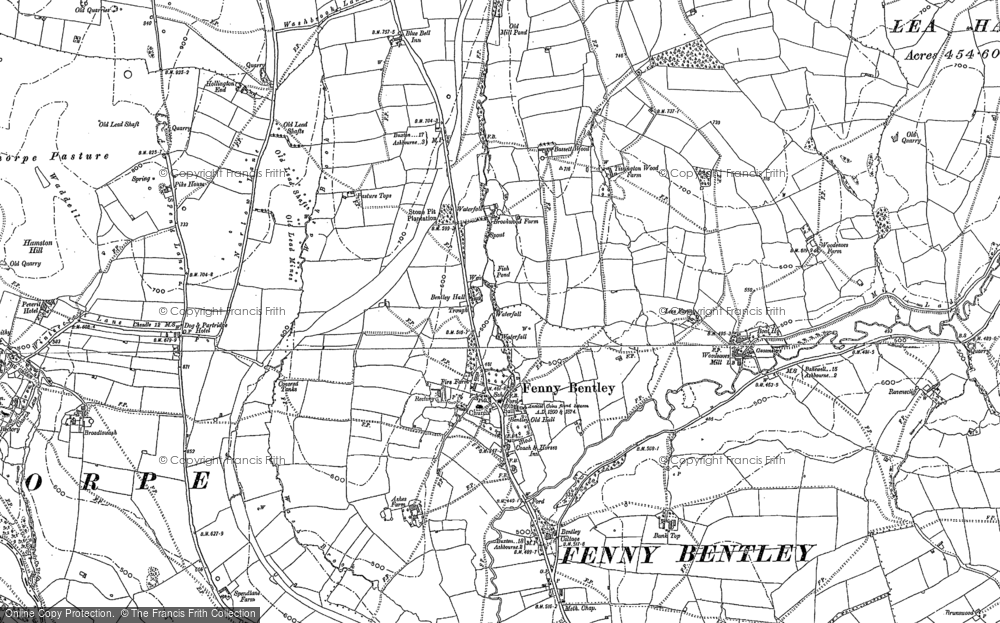 Old Map of Historic Map covering Bank Top in 1879