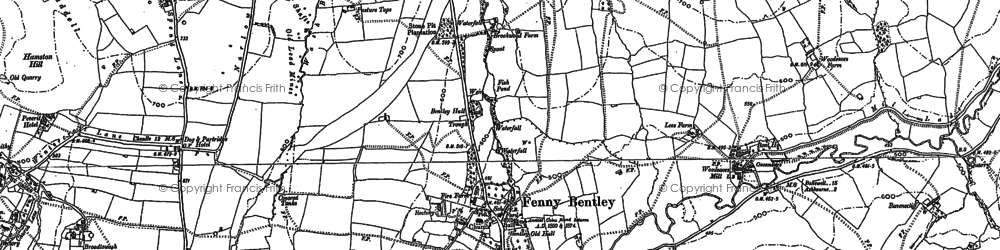 Old map of Bank Top in 1879