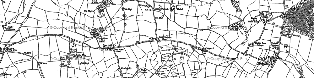 Old map of Fenton Pits in 1881