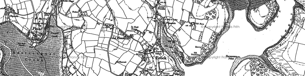 Old map of Feock in 1878
