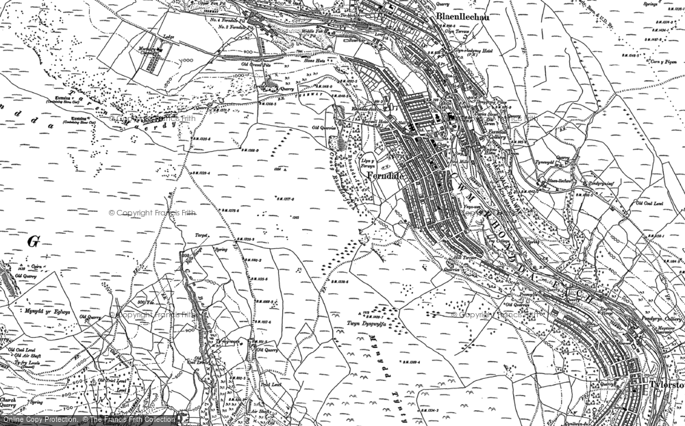 Old Map of Ferndale, 1898 in 1898