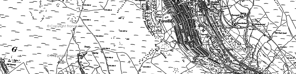 Old map of Ferndale in 1898
