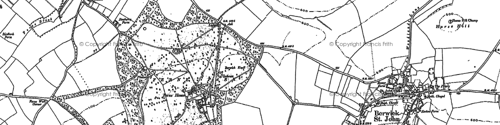 Old map of Win Green in 1900