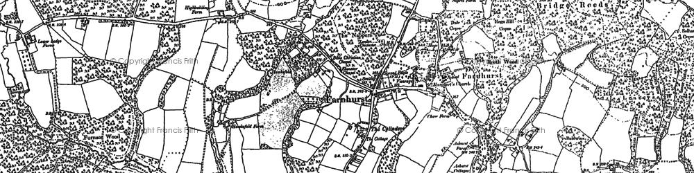 Old map of Fernhurst in 1910