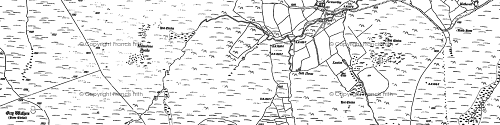Old map of Assycombe Hill in 1884