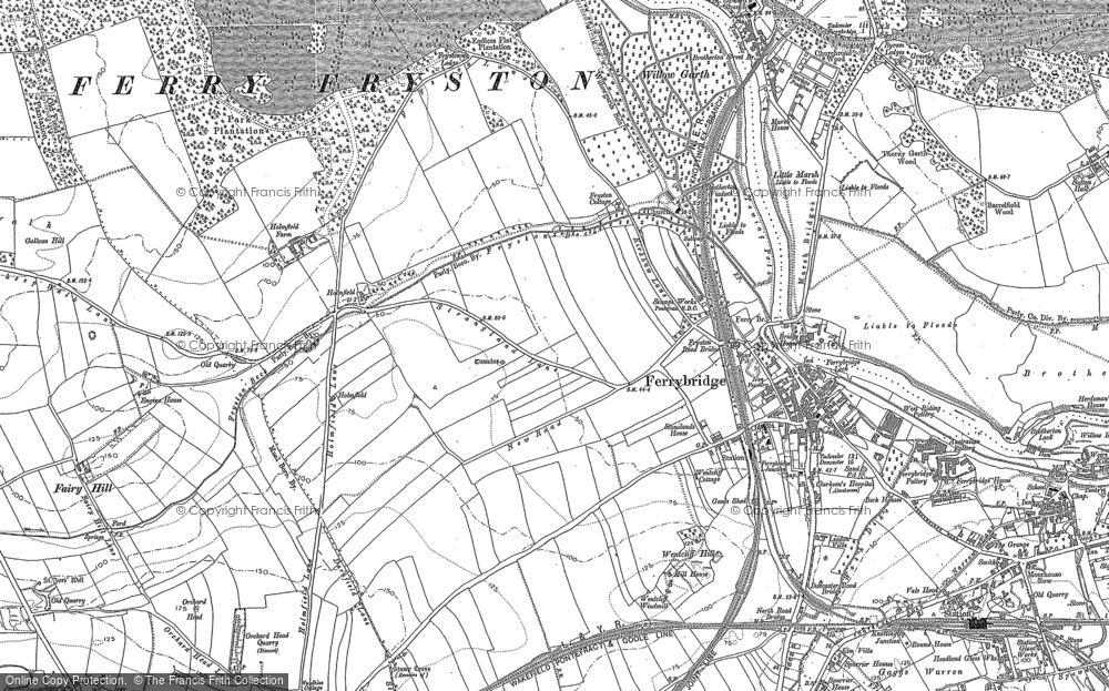 Old Map of Ferrybridge, 1890 - 1891 in 1890
