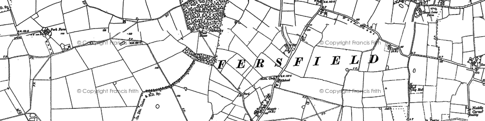 Old map of Wilney Green in 1883