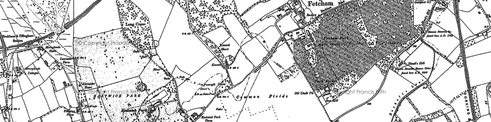 Old map of Fetcham in 1894