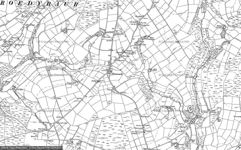 Old Map of Historic Map covering Bargoed in 1887
