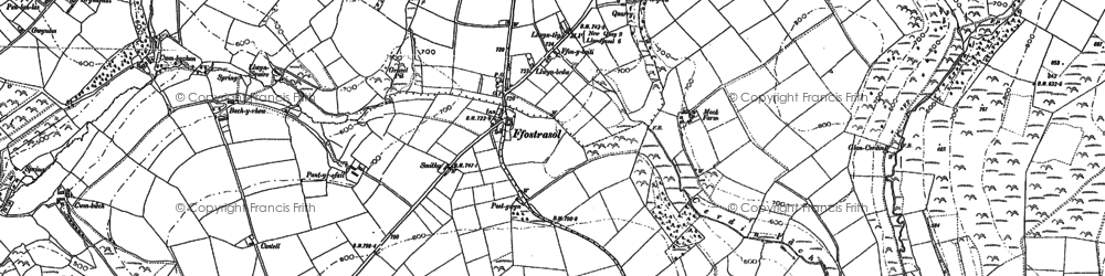 Old map of Bargoed in 1887