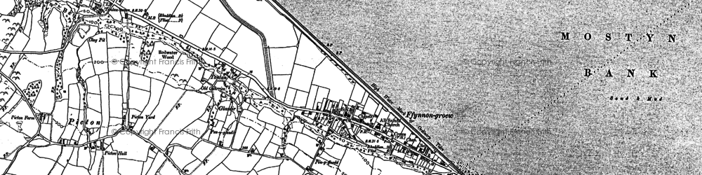 Old map of Garth in 1910