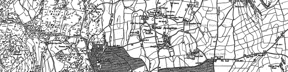 Old map of Field Broughton in 1911