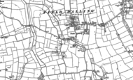 Old Map of Field Dalling, 1885 - 1886