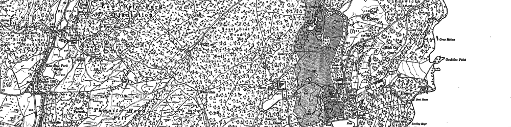 Old map of Bark House Wood in 1912