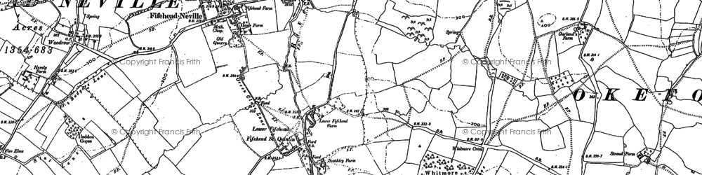 Old map of Whitmore Coppice in 1886