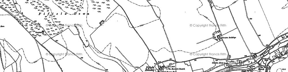 Old map of Fifield Bavant in 1884