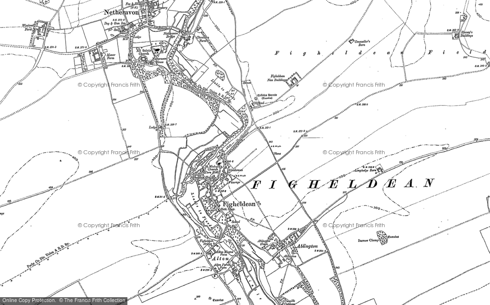 Old Map of Historic Map covering Ablington in 1899