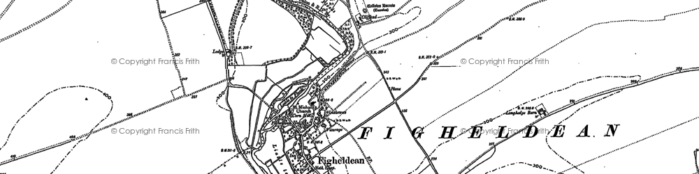 Old map of Alton in 1899