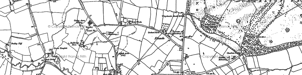 Old map of Back Br in 1919