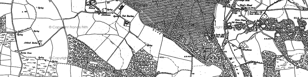 Old map of Whitstone in 1886