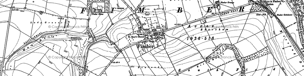 Old map of Life Hill in 1891