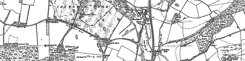 Old map of Woodhouse in 1910