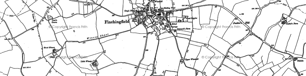 Old map of Yeldhams in 1896