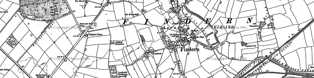 Old map of Thurston in 1881