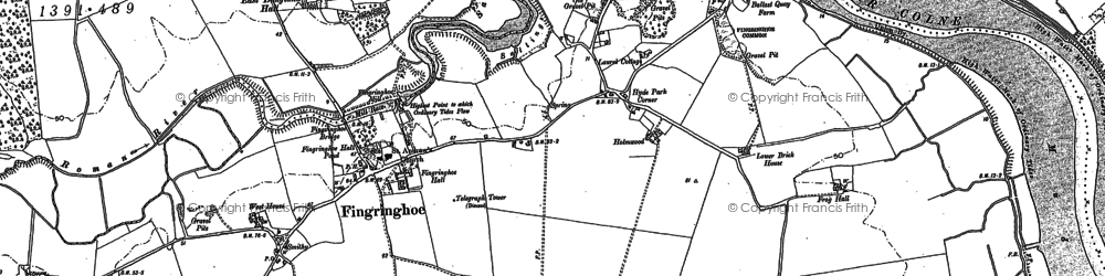 Old map of Langenhoe Marsh in 1895