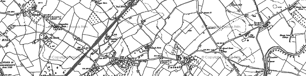 Old map of Aston Fields in 1883