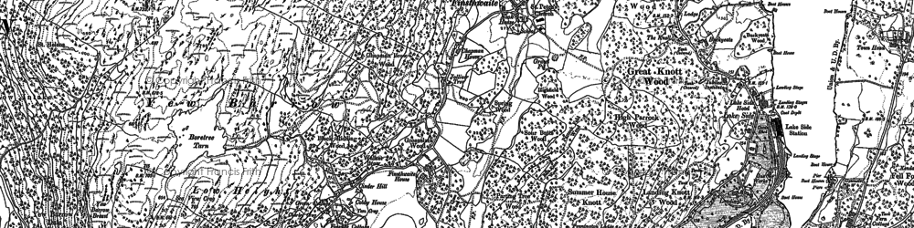 Old map of Yew Barrow in 1912