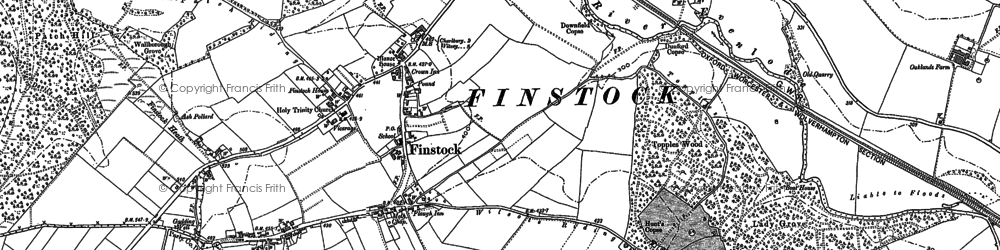 Old map of Wilcote Ho in 1898