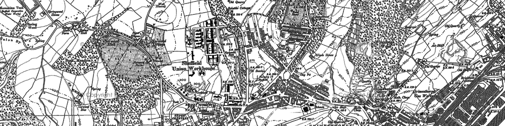 Old map of Fir Vale in 1890