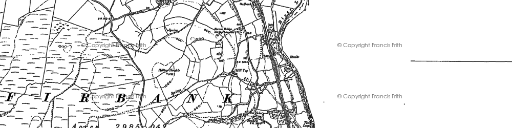 Old map of Whinny Haw in 1907