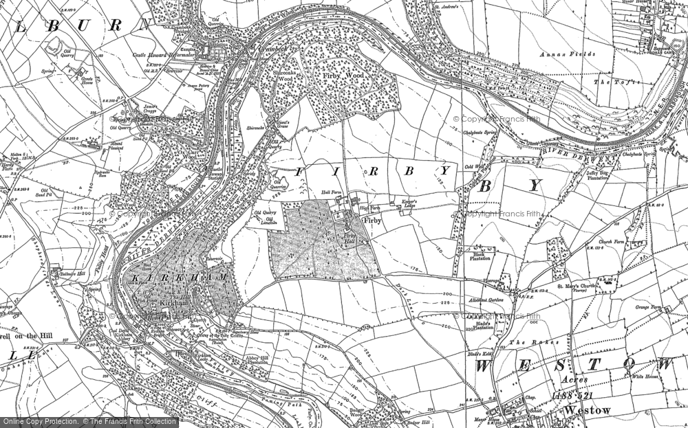 Old Map of Historic Map covering Badger Bank in 1891